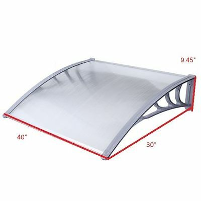 Front Back Window Door Canopy Outdoor Awning Cover Rain Sun Shelter Porch Patio
