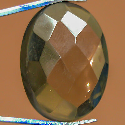 15.15 Cts Cabochon Oval stylish Smoky GemStone Dim-19X14X6 MM S0283