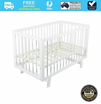NEW Bebecare Baby Toddler Timber Cot Bed Euro White #`091010-003