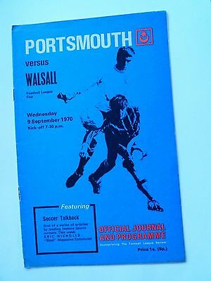 Portsmouth V Walsall Lge Cup 1970/71