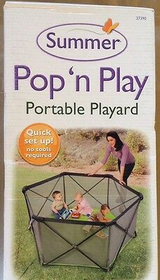 Summer Pop N' Play Portable Play Yard Quick Set Up 14 sq. ft./4 ft wide