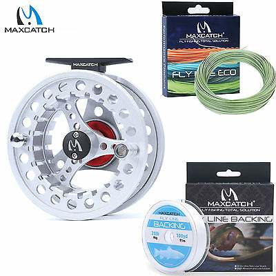 5/6/7/8WT Fly Reel Combo Aluminum Fly Fishing Reel & WF Fly Line & Backing Line