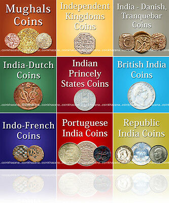 Indian Coins Catalog * Mughal to Republic India (1601-2013) * PDF format (DVD)