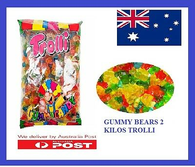 Gummy Bears  Trolli   Candies Lollies X 2.0Kg