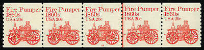 "US #1908 20¢ Fire Pumper PS5 PNC5 Pl 15 Wounded ""P"" Plate Flaw VF NH MNH"