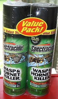 Spectracide Wasp Hornet & Tent Caterpillar Killer 6-20 oz cans Spray 27 ft