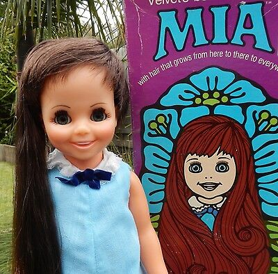 Vintage Ideal MIA Crissy Doll wearing original outfit & shoes with Box