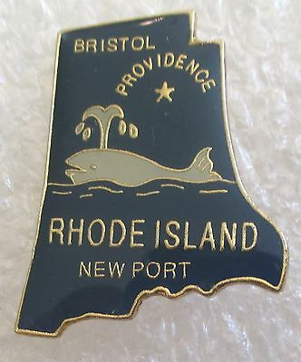 State of Rhode Island Map Travel Souvenir Collector Pin