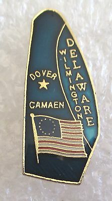 State of Delaware Map Travel Souvenir Collector Pin