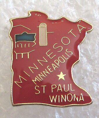 State of Minnesota Map Travel Souvenir Collector Pin