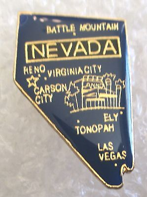 State of  Nevada Map Travel Souvenir Collector Pin