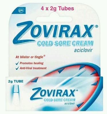 Zovirax Cold Sore Cream Tube, 2g