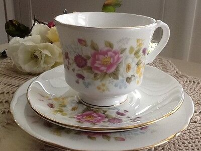 Vintage Collectable Duchess Trio High Tea Shabby Chic Made in England Floral Set