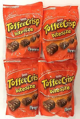 909247 4 x 120g BAGS OF TOFFEE CRISP BITE SIZED PIECES - TOFFEE & CEREAL FILLED!