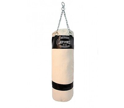 Last Punch New Heavy Duty Black Canvas Punching Bag with Chains