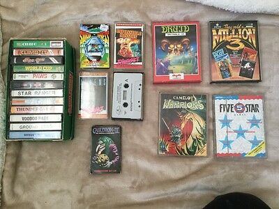 21 Mixed Amstrad ,C64 and Spectrum cassette games excellent condition