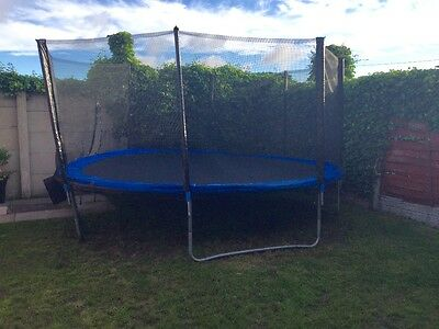 15ft Trampoline with ladder and padding round edges as shown great condition