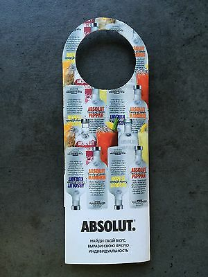 ABSOLUT VODKA FLAVOR TAG from KAZAKHSTAN * NEW & COLLECTORS MINT * EXTREME RARE