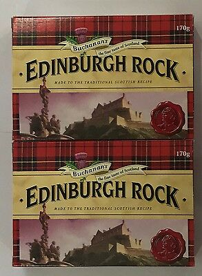 908338 2 x 170g BOXES OF FAMOUS EDINBURGH ROCK - MELTS IN YOUR MOUTH! - SCOTLAND