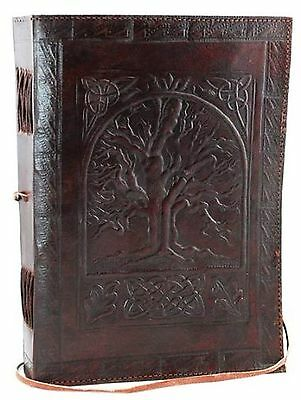 Vintage Large Tree of Life Leather Blank Book Diary Journal 240 Pages