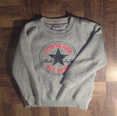 Converse Grey Sweatshirt Children's Kids Size 6-7 Years Old