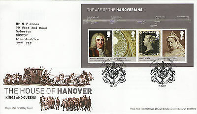 """Gb Fdc 2011 """"the House Of Hanover"""" Ms-Sp/hs"""