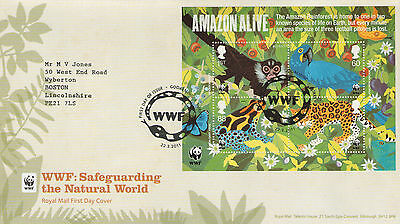 """Gb Fdc 2011 """"wwf:the Natural World""""ms-Sp/hs"""
