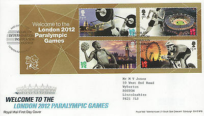 """Gb Fdc 2012 """"paralympic Games"""" Ms-Sp/hs"""