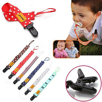 Baby Nipple Clip Fake Pacifier Soother Nipple Leash Strap Chain Clip