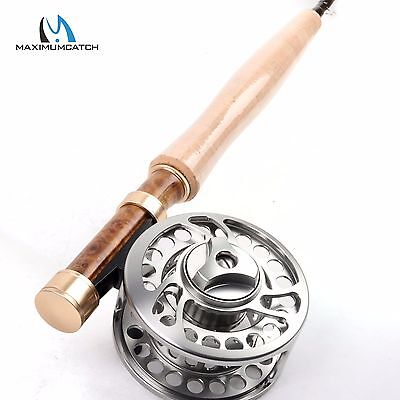 2WT Fly Rod Combo 6.5FT Medium-Fast Fly Fishing Rod & CNC Machined Reel Combo