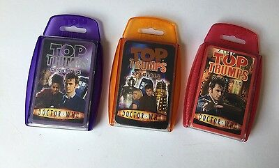 3 x DOCTOR WHO TOP TRUMPS Set LOT Bundle SPECIALS Pack