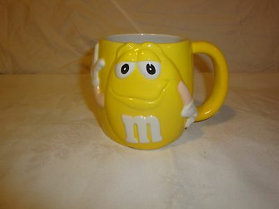 M&m Coffee Mug Cup Yellow 2002 The Jelly Bean Factory