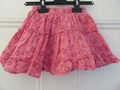 2-3 yrs - Pretty cotton summer skirt - Short/full - Pink floral - M&S