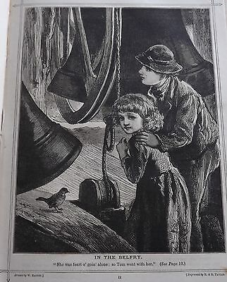 Antique Victorian Print W Rainey In The Belfry 1888 R & E Taylor