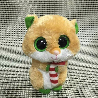 Soft Toy From TY BEANIES BOOS Hamster Candycane 6 inch Stuffed toy NO HEART TAG
