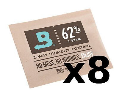 Boveda 62% RH 8 gram Humidipak - 8 Pack - 2-way Humidity Control (8g) RM24