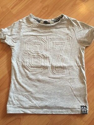 Boys H&M T Shirt 2-4 Years Grey