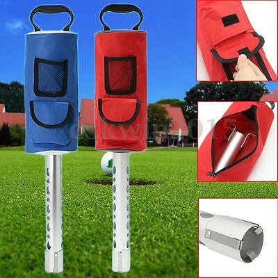 Red/Blue Golf Ball Picker 50 Balls Storage Device Easy Carrying Pick-up Bag