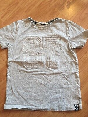 Boys H&M T Shirt 6-8 Years Grey