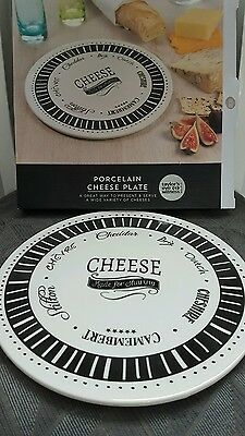 bnwt Taylor's Eye Witness porcelain cheese plate