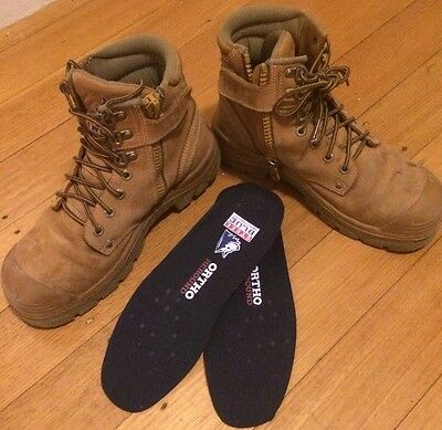 Mens Size USA Size 8.5 Steele Blue, Steel Cap Safety Boots