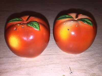 vintage Japan red apples salt and pepper shakers