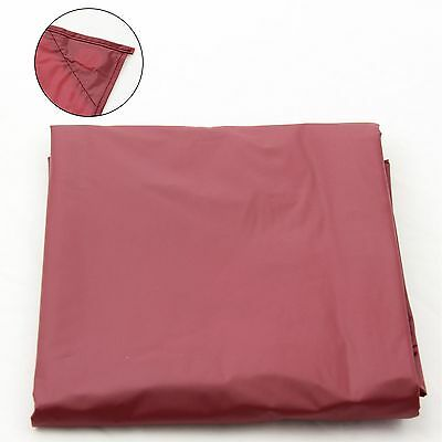 7Ft Red Nylon Weighted Pool Or Snooker Table Cover