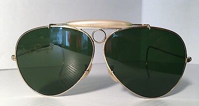 Ray Ban Aviator Shooter 1/30 10K Go B&l Authentic Sunglasses