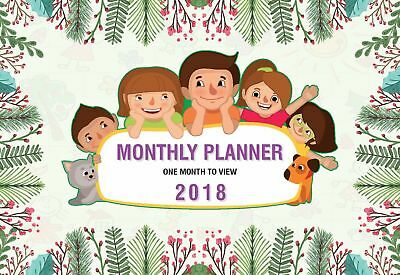 Family Organiser Calendar 2018 Moms Wall Hanging Monthly Planner One Month View