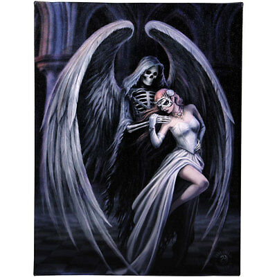 Anne Stokes Gothic Dance With Death  25cm x 19cm Canvas Print