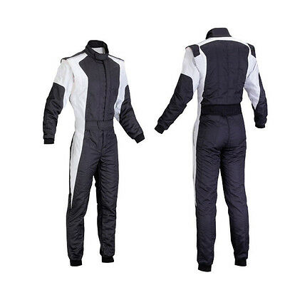 Kart Racing suit Go Kart CLG Black and White cordura polyester