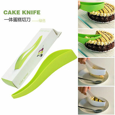 Cake Pie Slicer Sheet Guide Cutter Server Bread Slice Knife Kitchen Tools Gadget