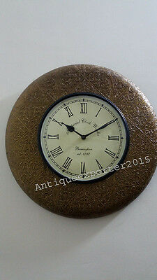 Beautiful Old Hand Carving Nautical Wall Clock Home / Office Decor Replica