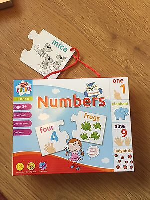 Learn Numbers Childrens Educational Learning Puzzle Jigsaw Game